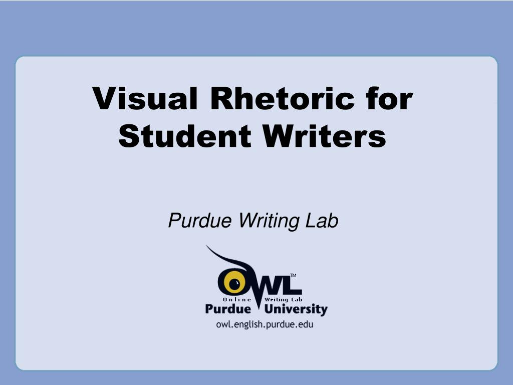 visual rhetoric for student writers l.