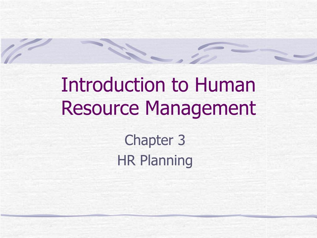 introduction to human resource management l.