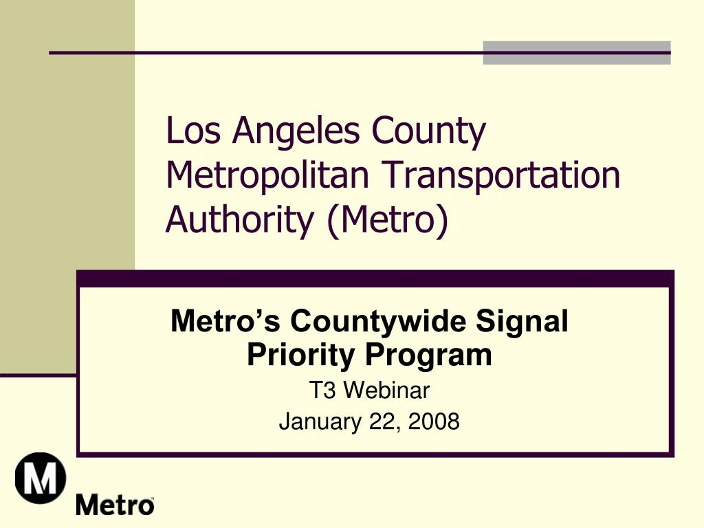 los angeles county metropolitan transportation authority metro l.