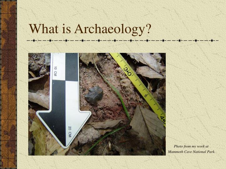 what is archaeology n.