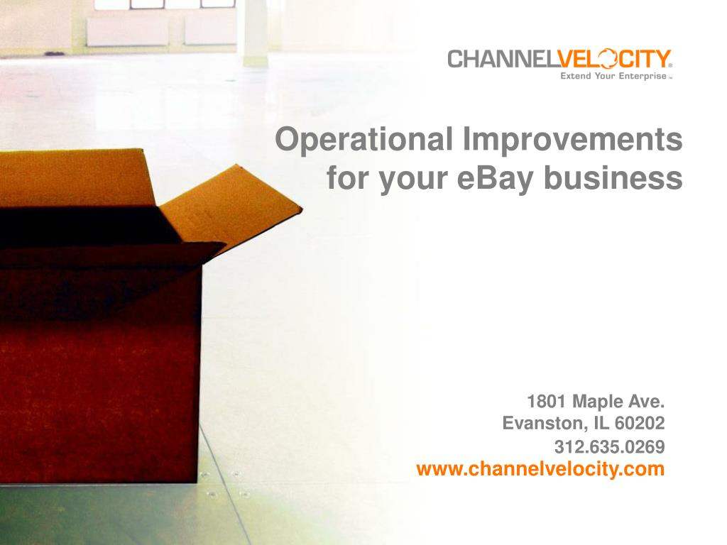 operational improvements for your ebay business l.