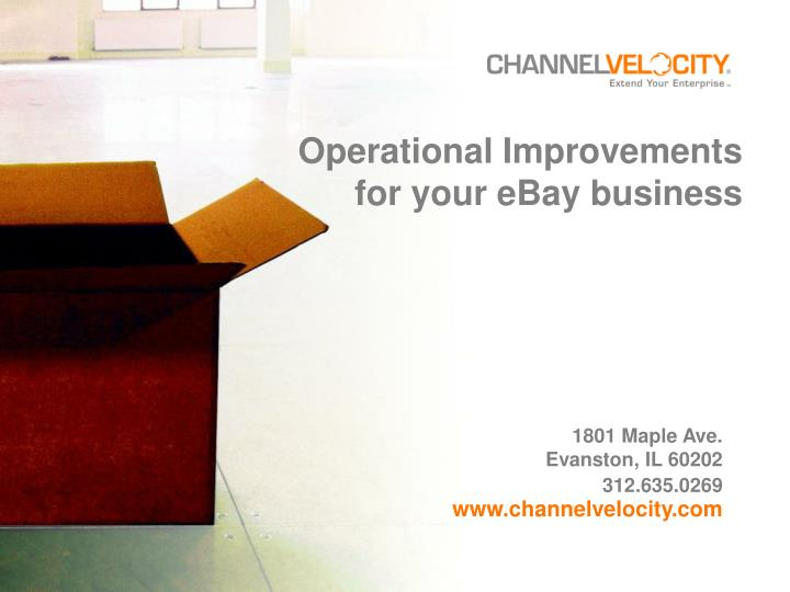 operational improvements for your ebay business n.