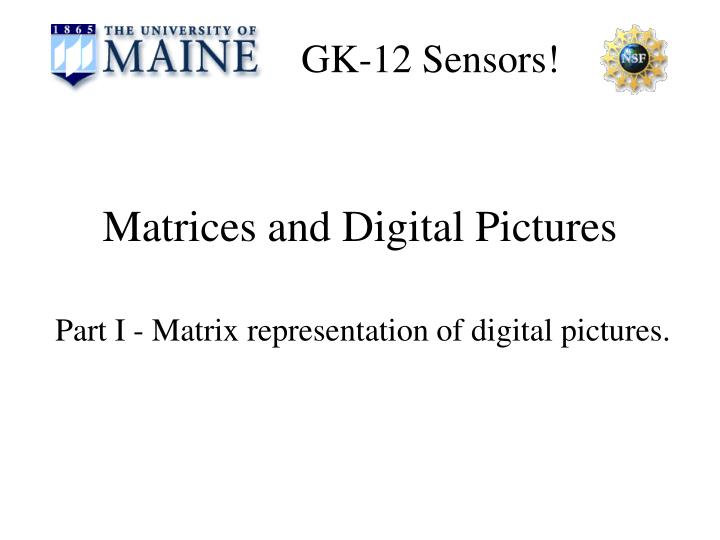 matrices and digital pictures n.