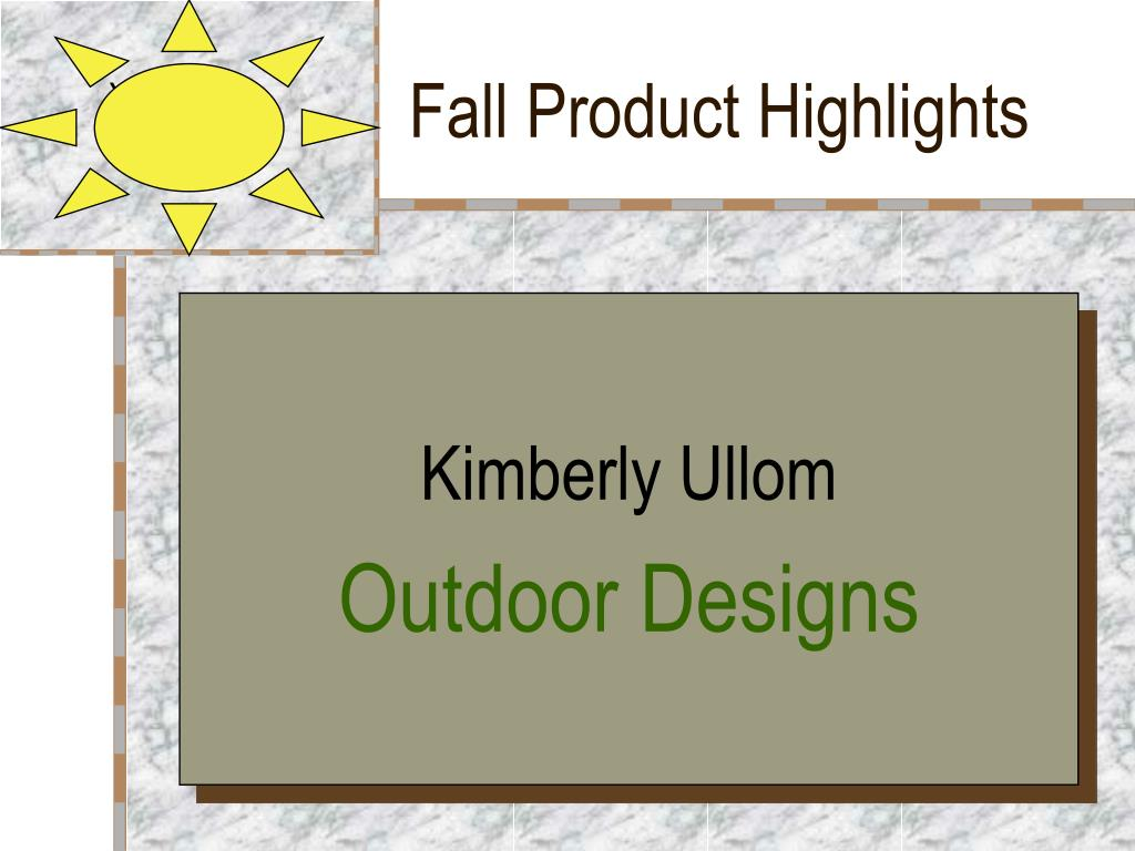 fall product highlights l.