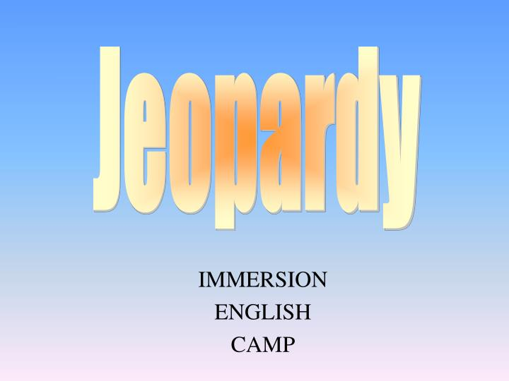 immersion english camp n.