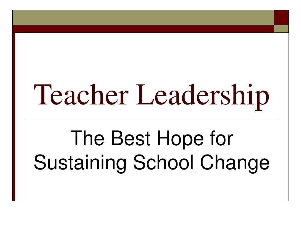 teacher leadership l.