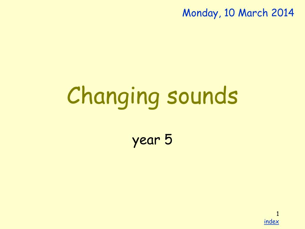 changing sounds l.