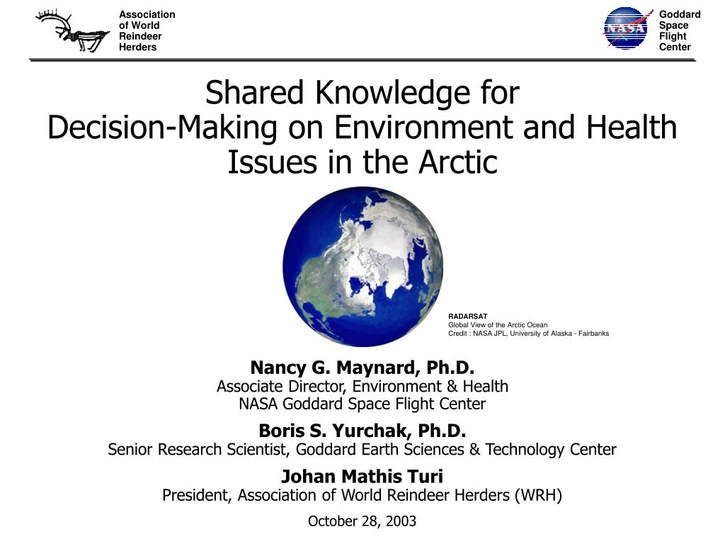 shared knowledge for decision making on environment and health issues in the arctic l.