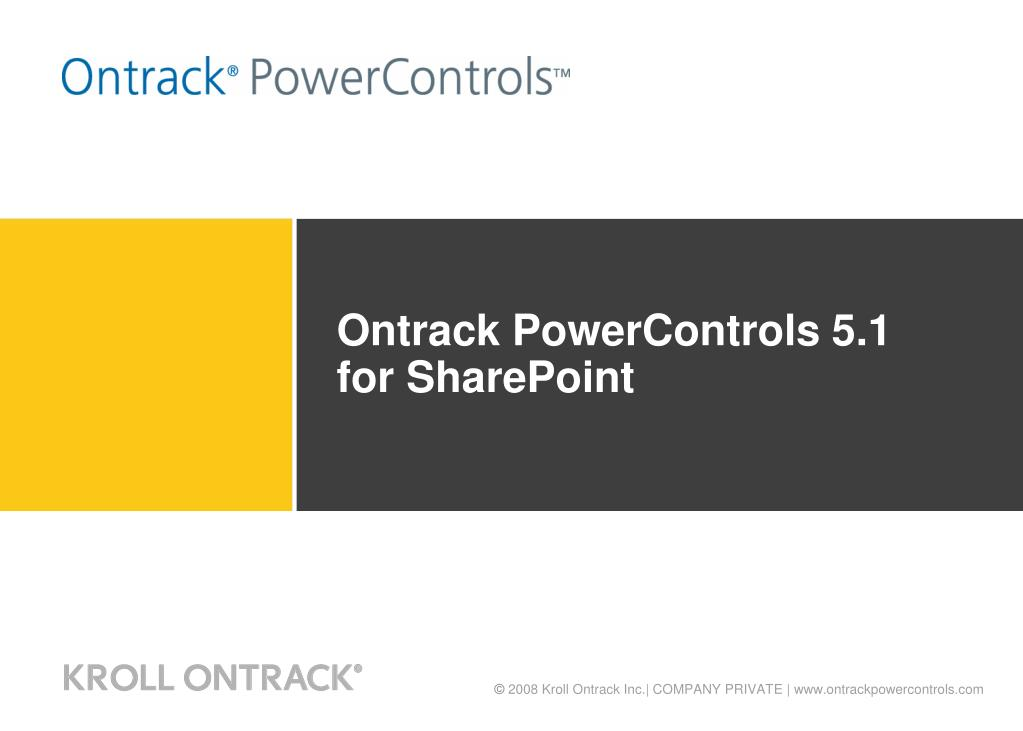 ontrack powercontrols 5 1 for sharepoint l.