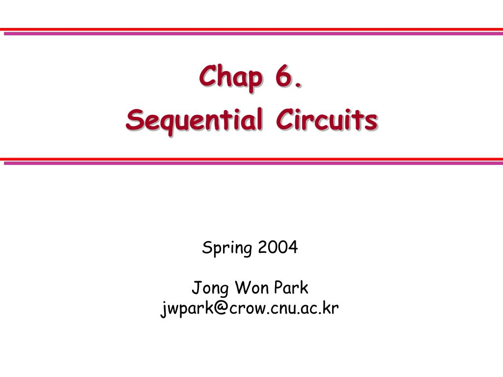 chap 6 sequential circuits l.