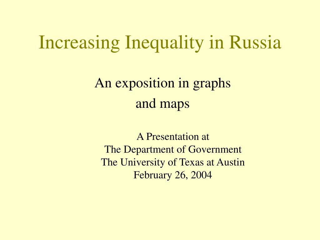 increasing inequality in russia l.