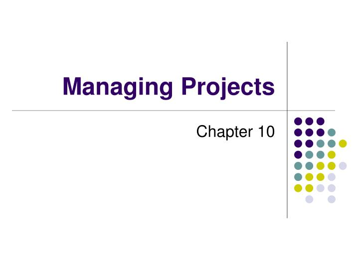managing projects n.