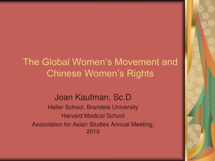 the global women s movement and chinese women s rights n.