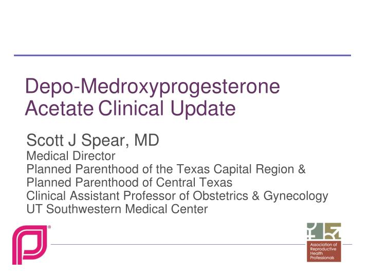 depo medroxyprogesterone acetate clinical update n.