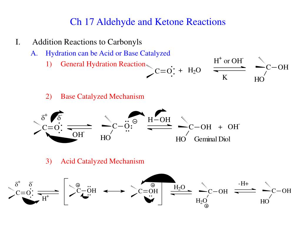 ch 17 aldehyde and ketone reactions l.