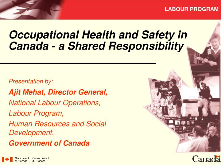 occupational health and safety in canada a shared responsibility n.