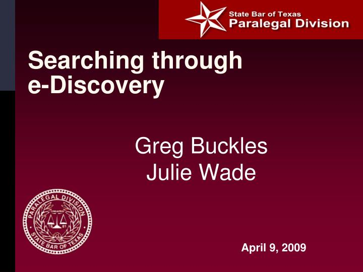searching through e discovery n.