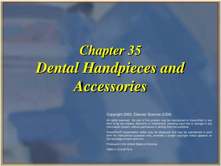 chapter 35 dental handpieces and accessories n.