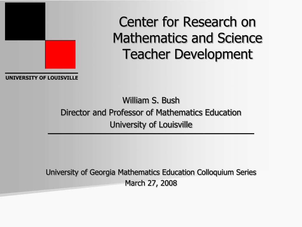 center for research on mathematics and science teacher development l.