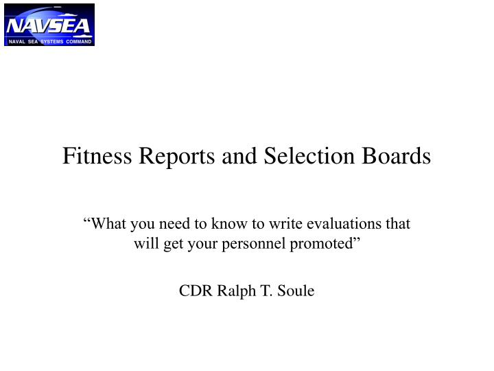 fitness reports and selection boards n.