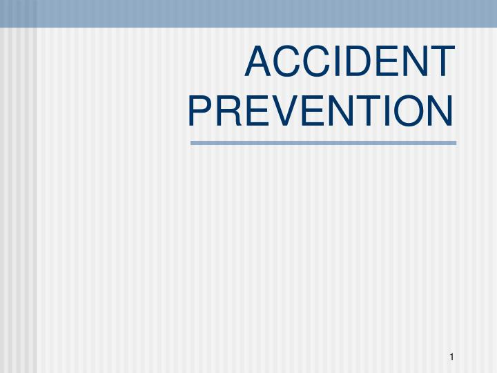 accident prevention n.