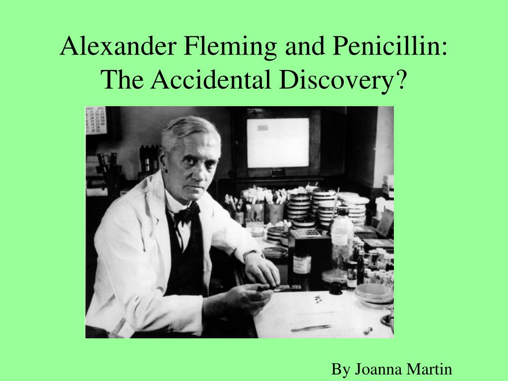 alexander fleming and penicillin the accidental discovery l.
