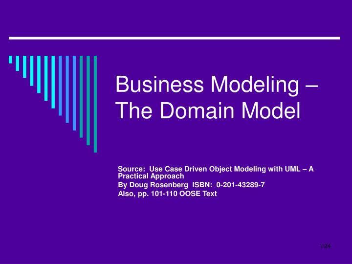 business modeling the domain model n.