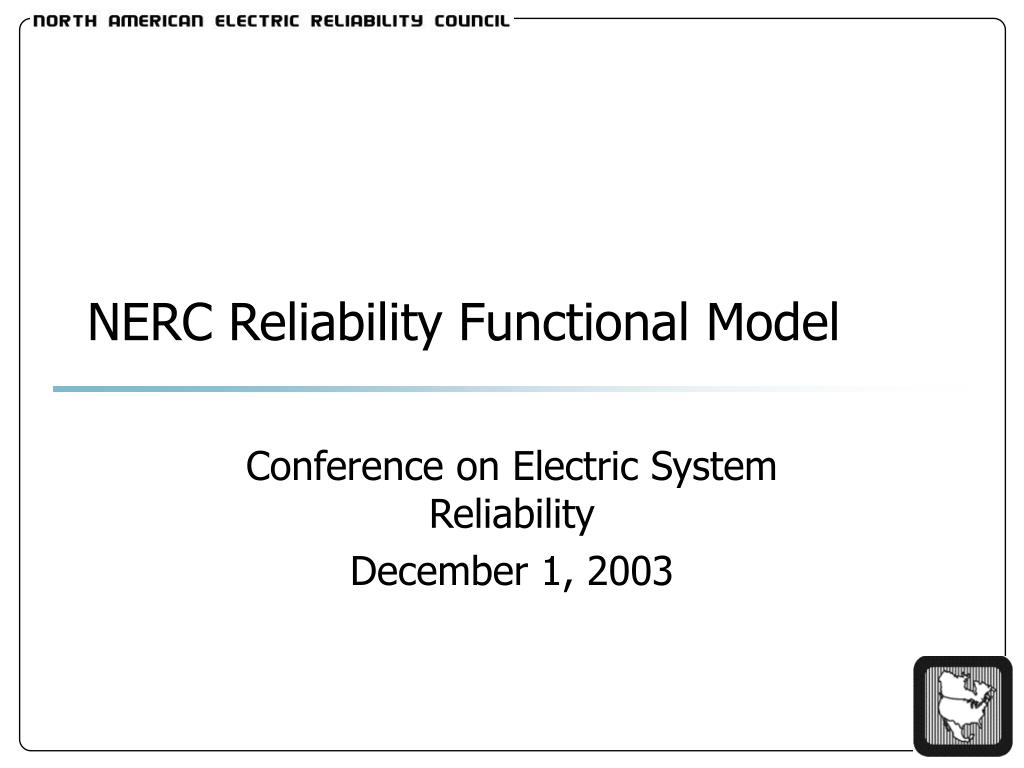 nerc reliability functional model l.
