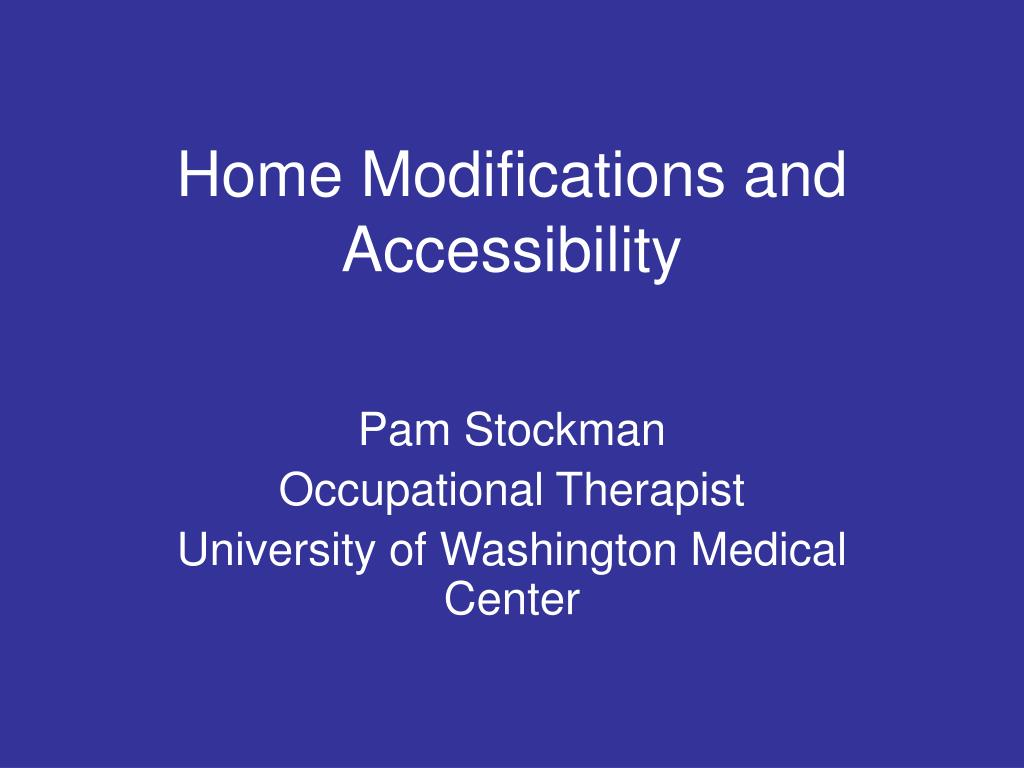 home modifications and accessibility l.