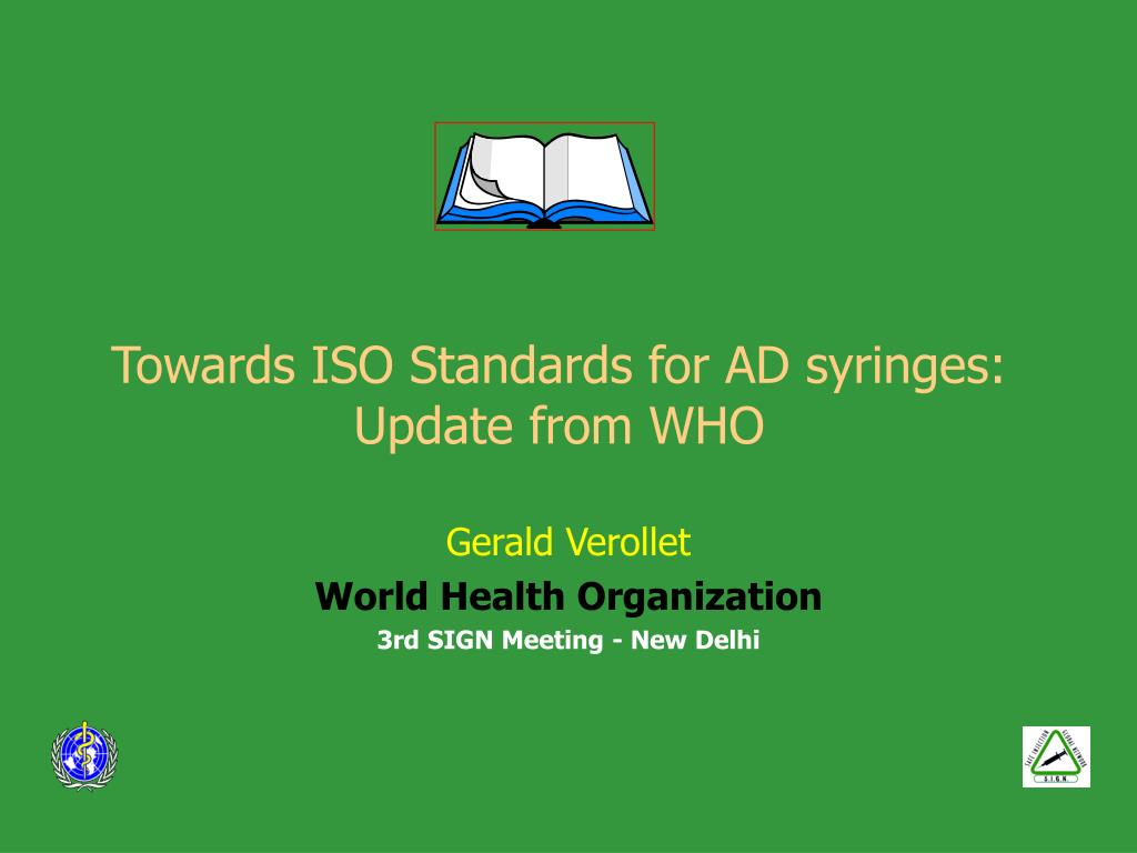 towards iso standards for ad syringes update from who l.