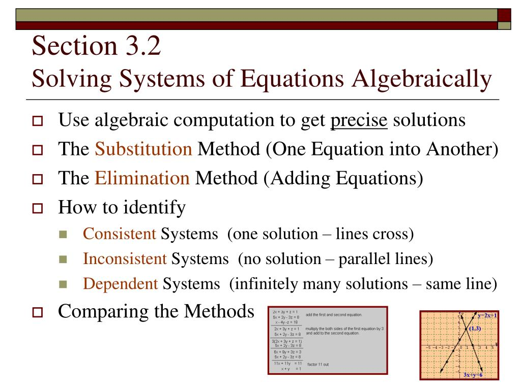 section 3 2 solving systems of equations algebraically l.