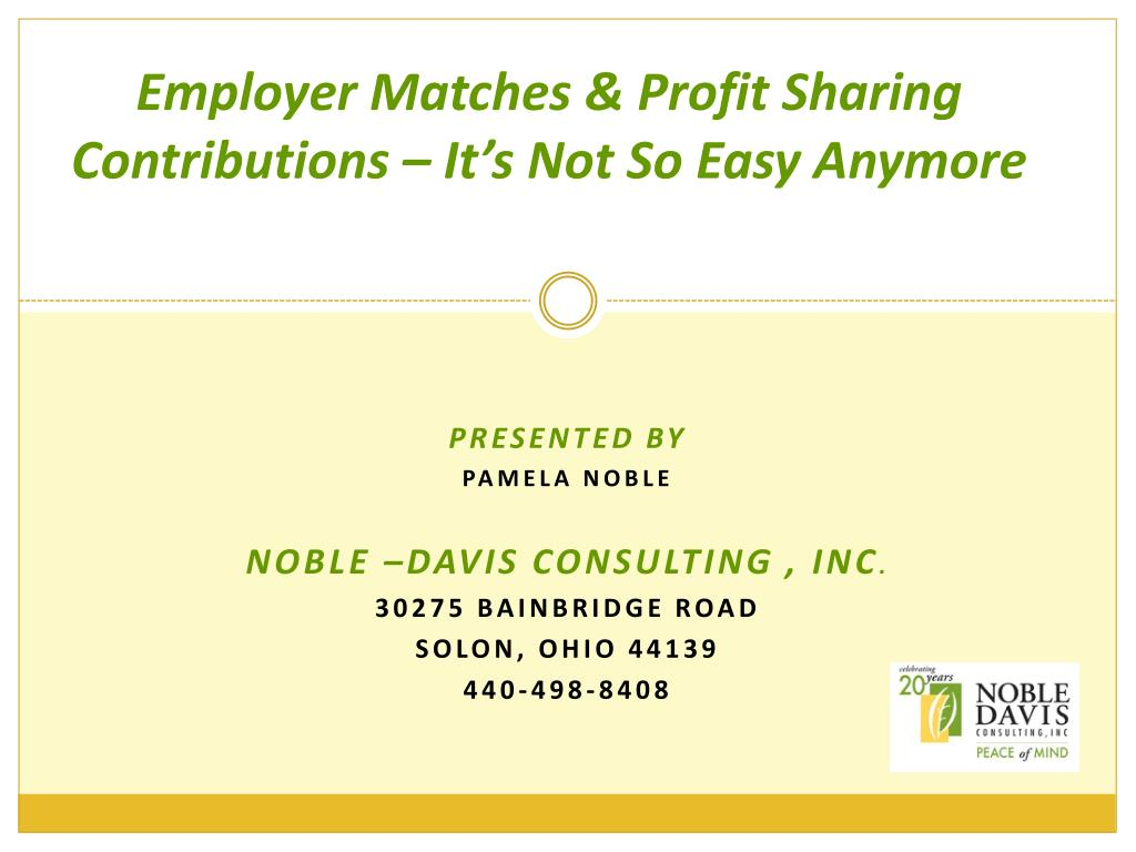 employer matches profit sharing contributions it s not so easy anymore l.