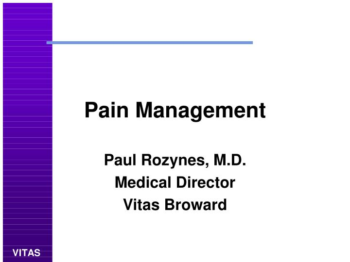 pain management n.
