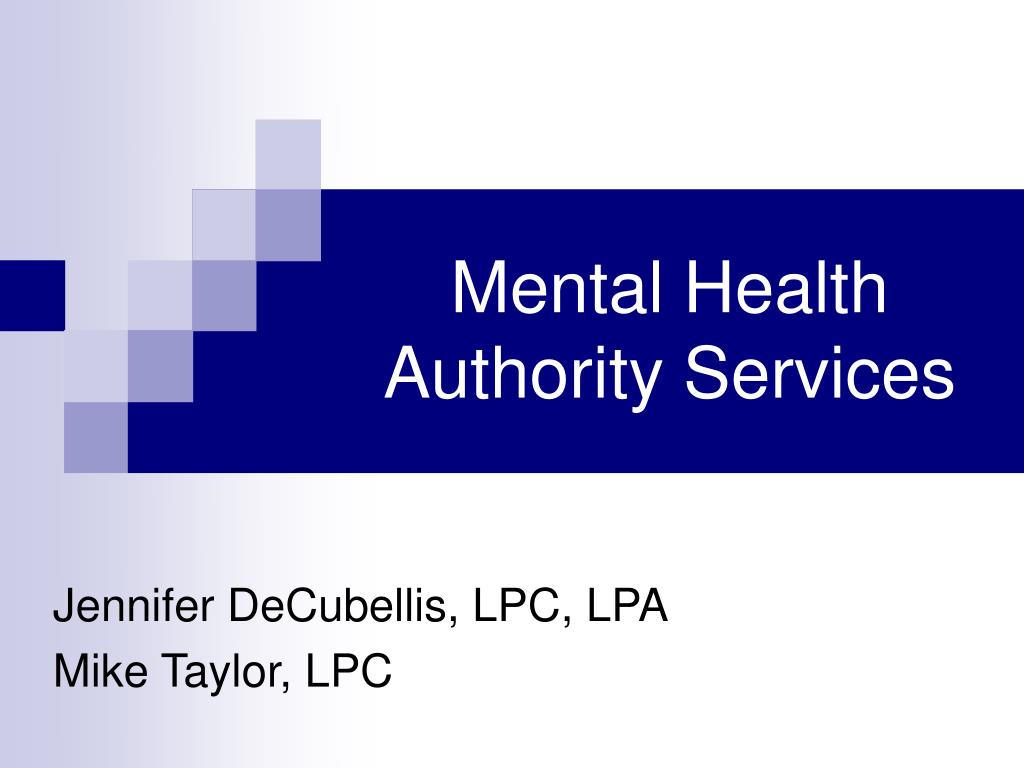 mental health authority services l.