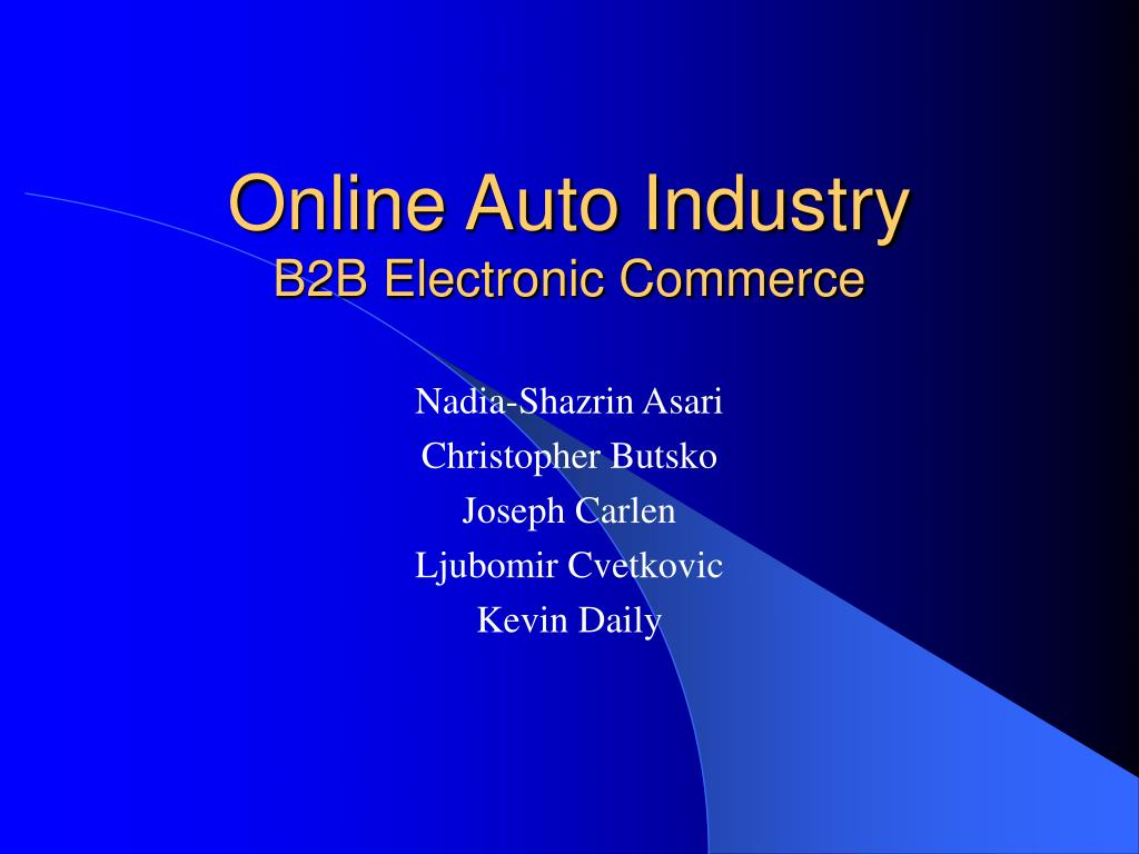 online auto industry b2b electronic commerce l.