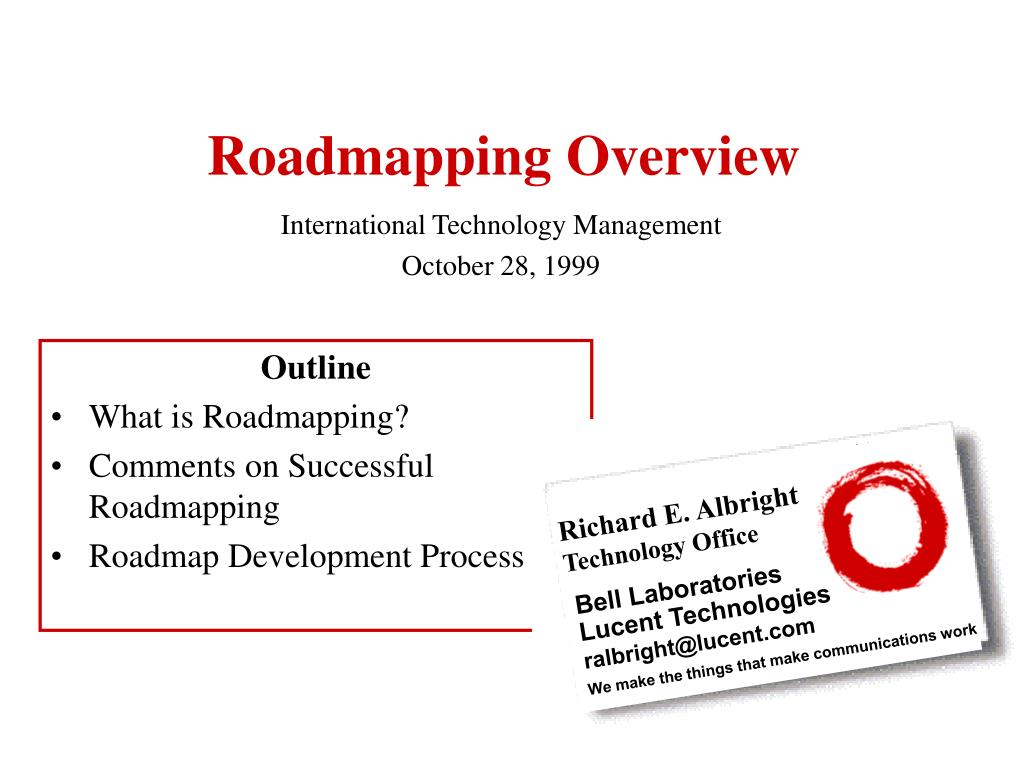 roadmapping overview l.