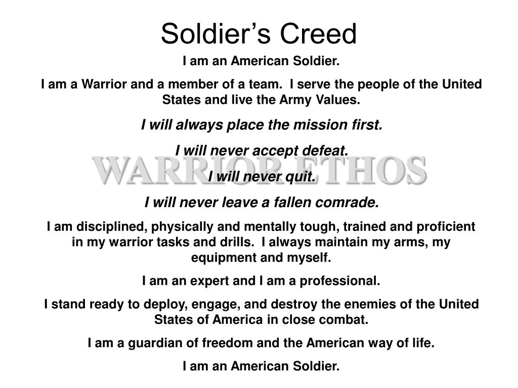 soldier s creed l.