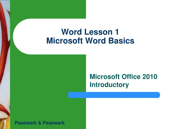 word lesson 1 microsoft word basics n.