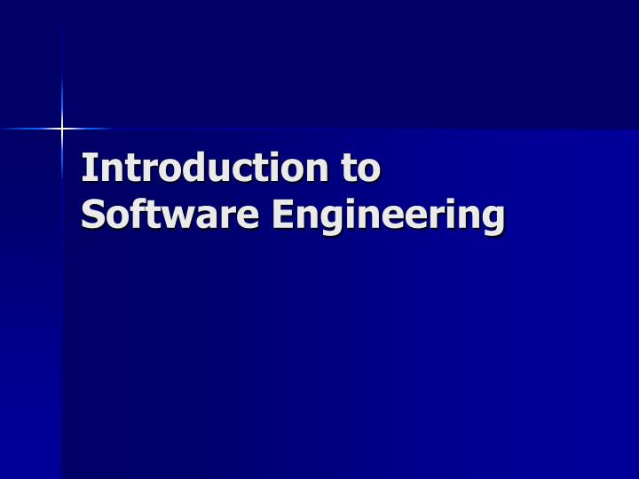 introduction to software engineering n.