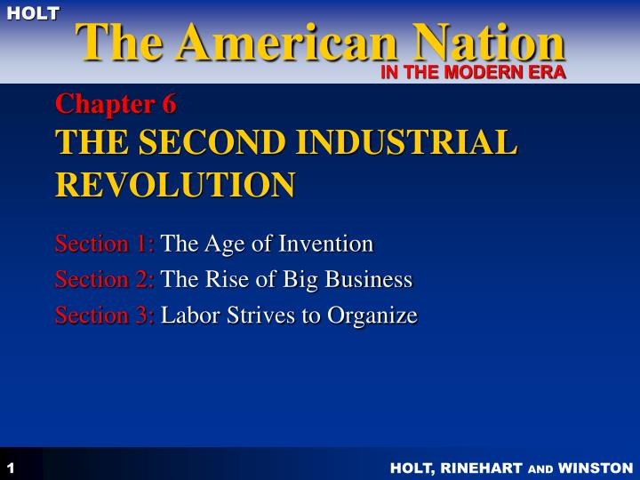 chapter 6 the second industrial revolution n.