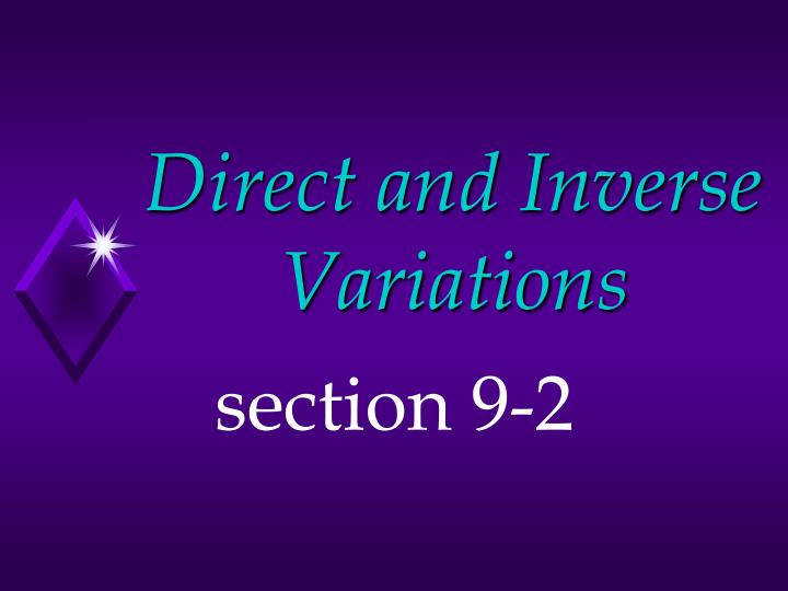 direct and inverse variations n.
