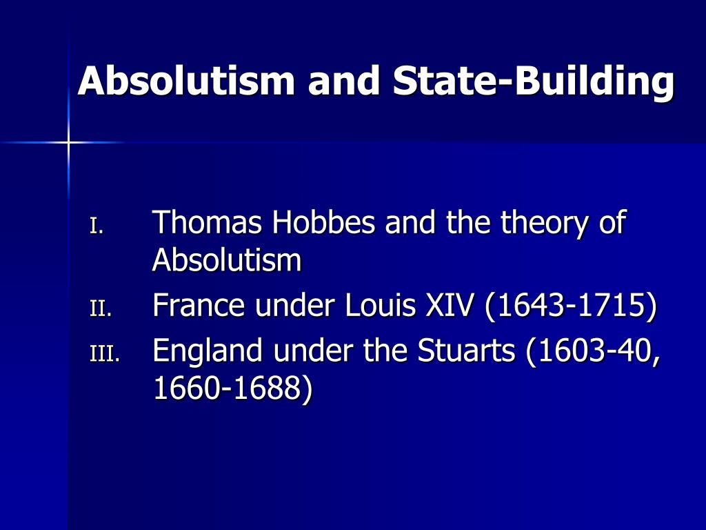 absolutism and state building l.