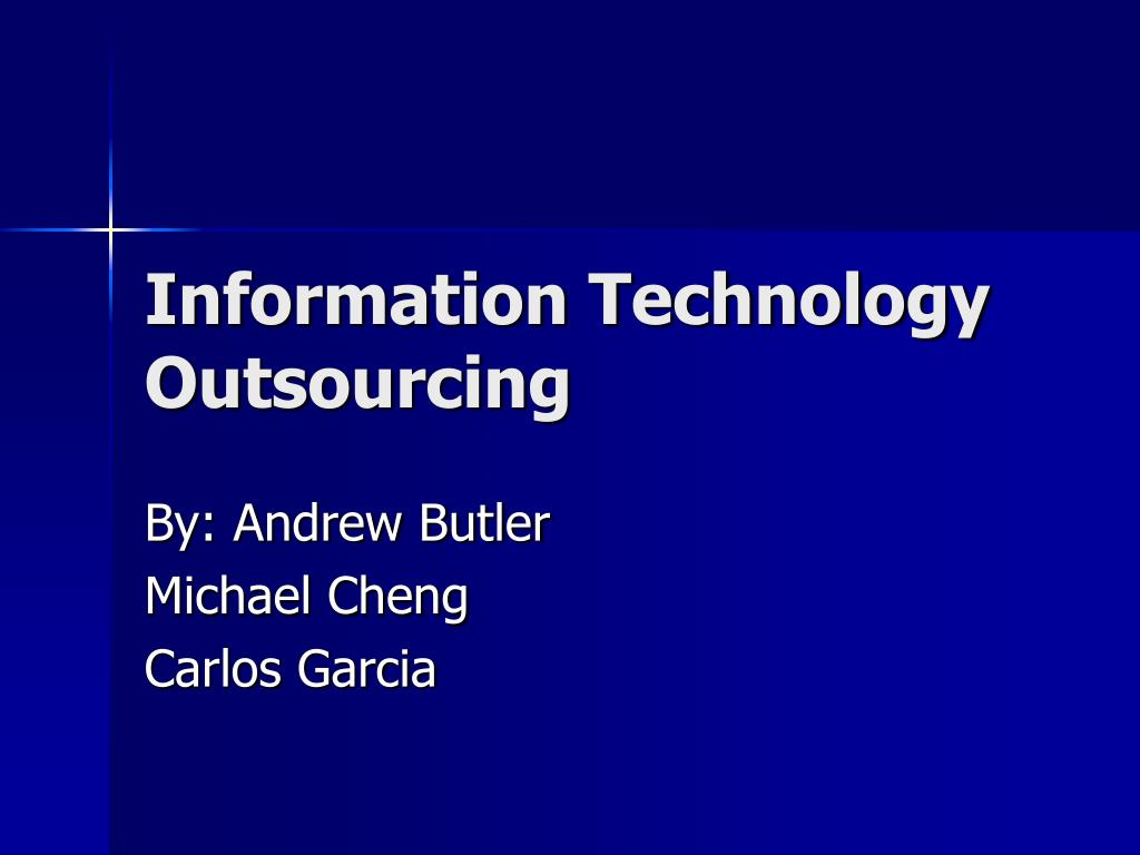 information technology outsourcing l.