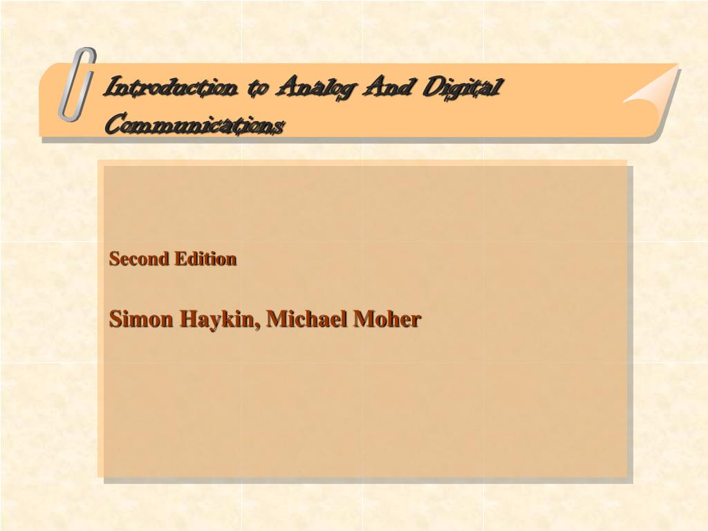 introduction to analog and digital communications l.
