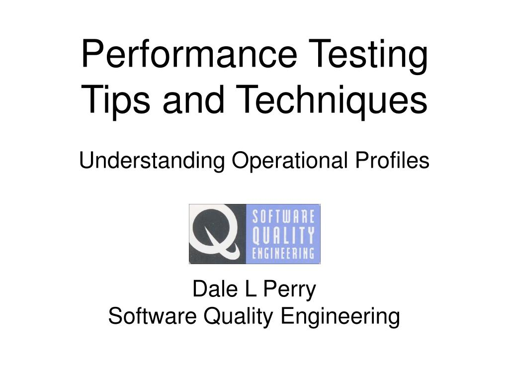 performance testing tips and techniques l.