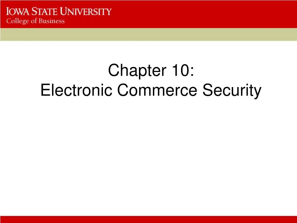 chapter 10 electronic commerce security l.