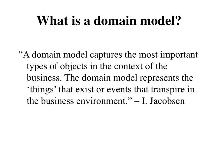 what is a domain model n.
