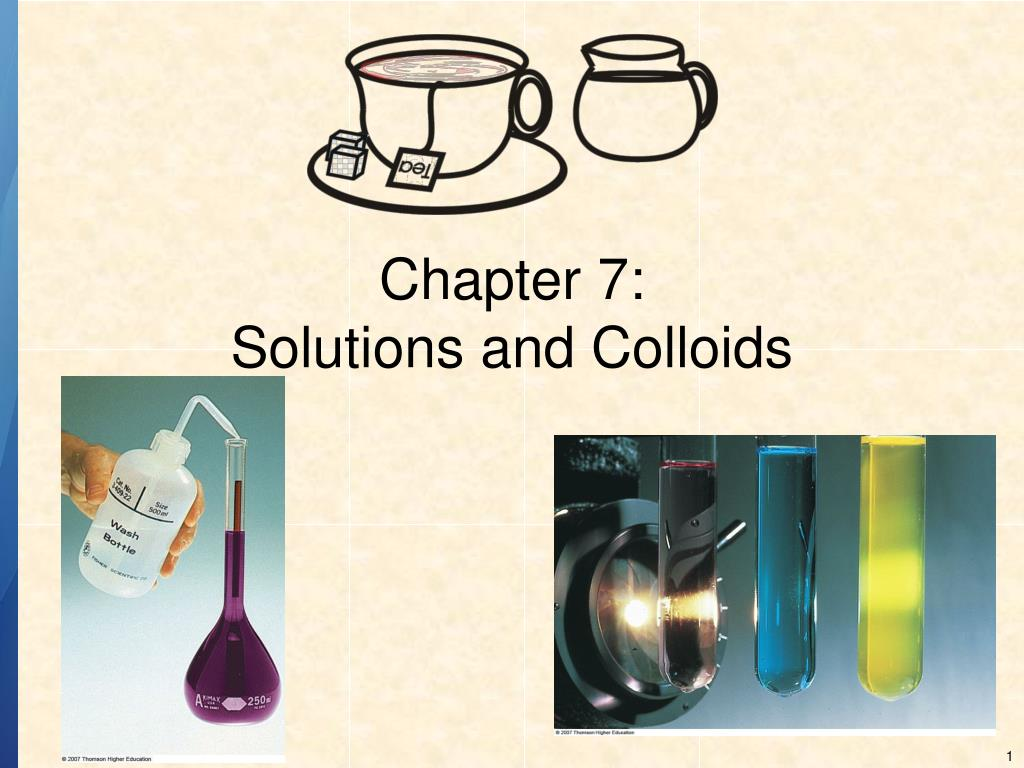 chapter 7 solutions and colloids l.