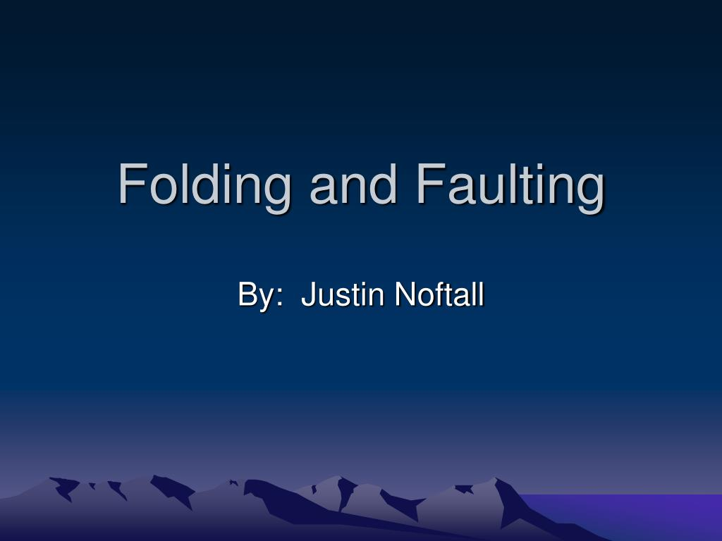 folding and faulting l.