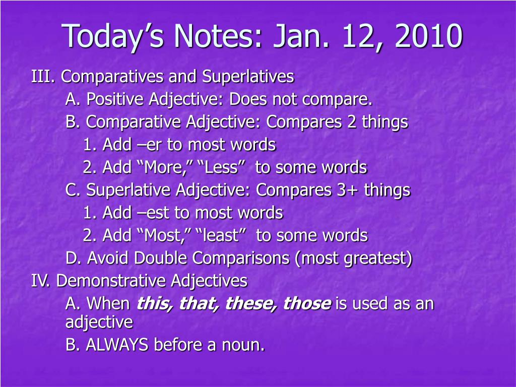 today s notes jan 12 2010 l.